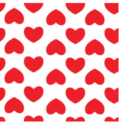 seamless pattern with hearts background of hearts vector image vector image