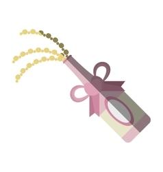 bottle champagne explosion celebration icon vector image