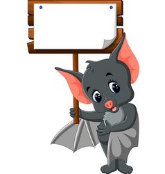cute bat cartoon vector image