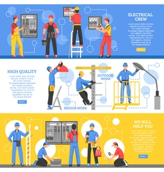 Electrical Works Horizontal Banners vector image