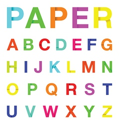 paper letters colour vector image vector image