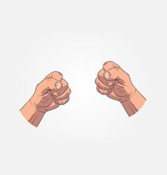 realistic sketch hands - gestures hand-drawn icon vector image