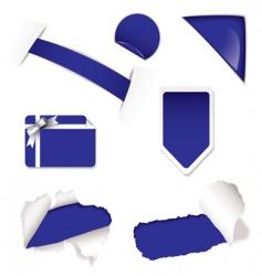 shop sale elements purple vector image
