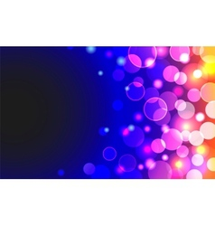 Abstract horizontal background with shiny blue vector