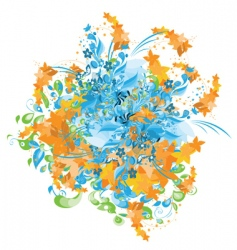 abstract painting vector image