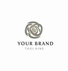 Abstract rose and pearl logo vector