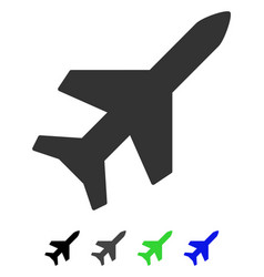 aeroplane flat icon vector image