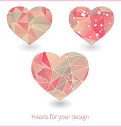Artistic heart design vector