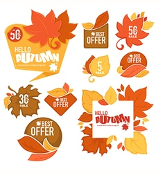Autumn stickers vector