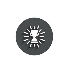 award cup simple icon winner trophy vector image