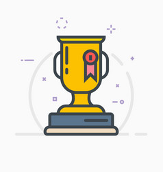 Award trophy vector