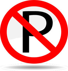 Ban parking vector image