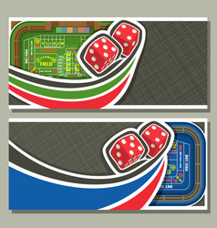 Banners for craps gamble vector