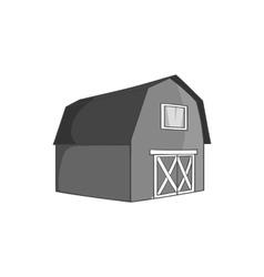 Barn for animals icon black monochrome style vector image