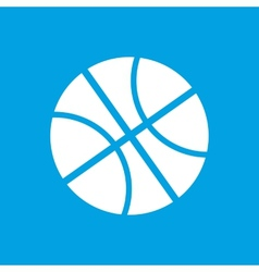 Basketball white icon vector image