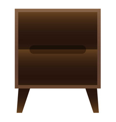 bedroom nightstand icon cartoon style vector image