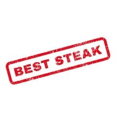 Best Steak Text Rubber Stamp vector