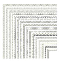 Big set decorativer borders vector