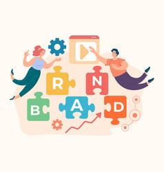 Brand menegement development advertising concept vector