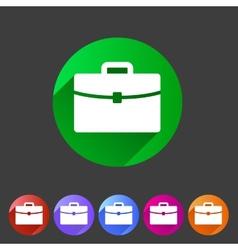 Briefcase portfolio flat icon vector image