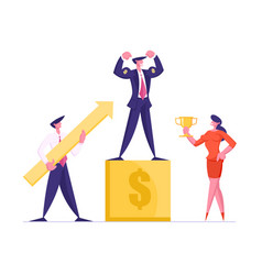 business competition winner on pedestal vector image