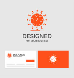 Business logo template for global student network vector
