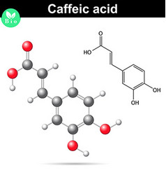 Caffeic acid chemical structure vector