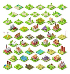 City Map Set 03 Tiles Isometric vector