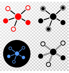 composition of gradiented dotted connections and vector image