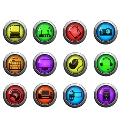 Computer technology icons vector