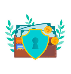 concept of protection of funds individual vector image