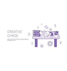 Creative chaos creativity process concept template vector