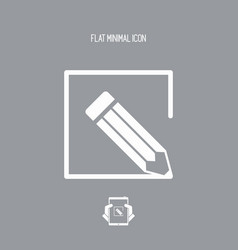 Customized services - flat icon vector