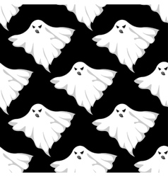 Danger ghosts seamless pattern vector image