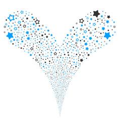 Decoration stars fountain stream vector