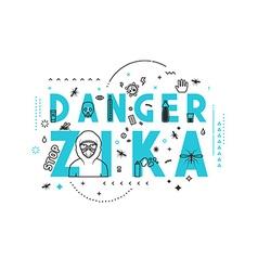 Design concept epidemic of danger zika vector