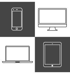 Digital devices set vector image