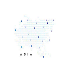 Dotted asia map logo design inspiration vector