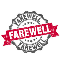 Farewell stamp sign seal vector