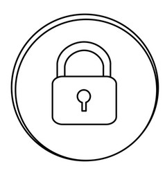figure lock emblem icon vector image