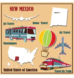 Flat map of New Mexico vector