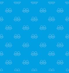 fresh eggs pattern seamless blue vector image