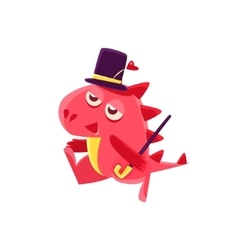 Gentleman Red Dragon vector image