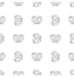 German pretzels seamless pattern on white vector image