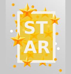 golden stars design elements best concept vector image