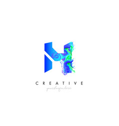 h letter icon design logo with creative artistic vector image