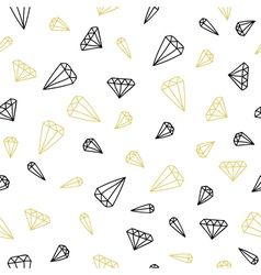 Hand drawn seamless background of diamonds vector