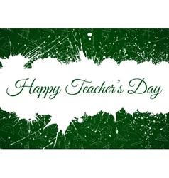 Happy Teacher s Day over ink blots vector