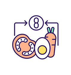 Healthy meal rgb color icon vector