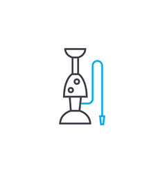 hookah linear icon concept hookah line vector image